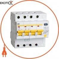Дифференциальный автоматический выключатель АД14 4Р 50А 30мА IEK