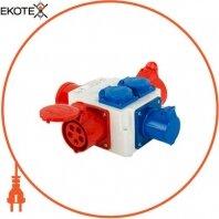Монтажный набор - разветвитель 32A 3P+N+Z 400V/ 1x32A 3P+N+Z 400V, 1x16A 3P+N+Z 400V, 3x16A 2P+Z 250V