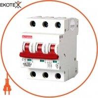 Модульный автоматический выключатель e.industrial.mcb.100.3.C10, 3 р, 10А, C, 10кА
