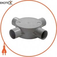 Коробка e.pipe.4.db.stand.16 соединительная трубная, 4 ввода, d16мм