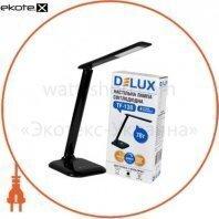 Светильник светодиодный настольный Delux TF-130 3000К/6000К 7Вт черный