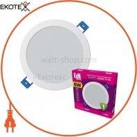 Светильник светодиодный встраиваемый Disk-V-6 6W 4000К IP20 белый 26-0084