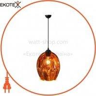 Светильник подвесной E27 250V плафон стекло 1,2м. круглый хром