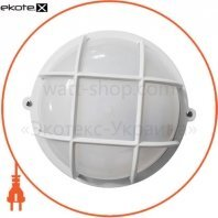 Светильник НПП-65 круг белый опал.с решеткой ПП-1051-07-1/6 LED-12w
