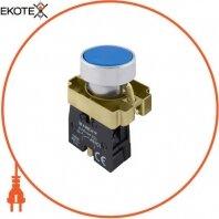 Кнопка без подсветки плоская e.mb.ba61 синяя, без фиксации, 1NO