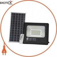 Прожектор на солнечной панели SMD LED 60W 1040Lm 6400K IP65 черный