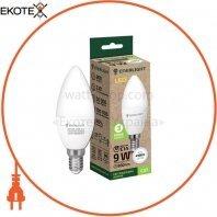 Лампа светодиодная ENERLIGHT С37 9Вт 4100K E14