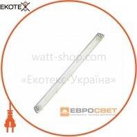 Світильник промисловий ЕВРОСВЕТ 2*1200мм під лампу Т8 LED-SH-45 з пластиною IP65 LENS