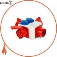 Монтажный набор - разветвитель 16A 3P+N+Z 400V/ 3x16A 3P+N+Z 400V, 2x16A 2P+Z 250V