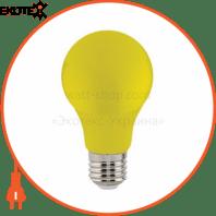 Лампа A60 SMD LED 3W жовта,червона,зелена,синя E27 315/102/205/35Lm 220-240V