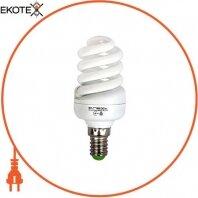 Лампа энергосберегающая e.save.screw.E14.15.4200,T2 тип screw, патрон Е14, 15W, 4200 К, колба T2