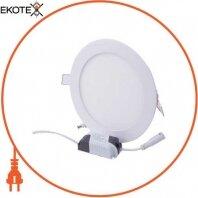 Світильник светодиодний встраив. e.LED.MP.Round.R.12.4500, коло, 12Вт, 4500К, 840Лм