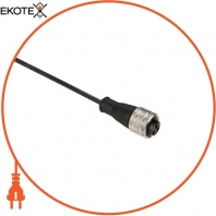 "pre-wired connectors XZ - straight female - 7/8""16 UN - 3 pins - cable PUR 5m"
