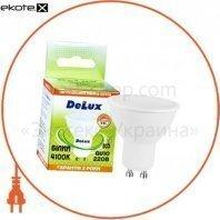 лампа светодиодная DELUX GU10A 5Вт 4100K 220В GU10 белый