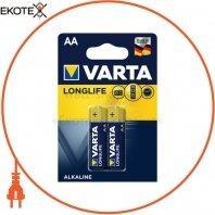 Батарейка VARTA LONGLIFE AA BLI 2 шт