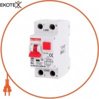 Выключатель дифференциального тока с защитой от сверхтоков e.rcbo.pro.2.B06.30, 1P+N, 6А, В, тип А, 30мА
