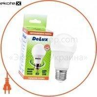 лампа светодиодная DELUX BL60 12Вт Е27 3000K теплый белый