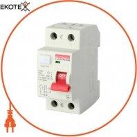 Выключатель дифференциального тока e.rccb.pro.A.2.16.30, 2р, 16А, 30мА, тип А