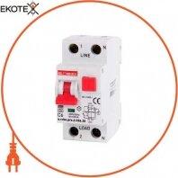Выключатель дифференциального тока с защитой от сверхтоков e.rcbo.pro.2.C06.30, 1P+N, 6А, С, тип А, 30мА