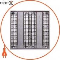 Светильник люминесцентный растровый встроенного типа e.lum.raster.flush.4.14.el с электронным ПРА, лампа Т5 4х14W