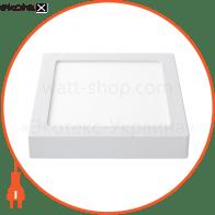 Светодиодная панель квадратная-18Вт накладна (225x225) 4200K, 1440 люмен
