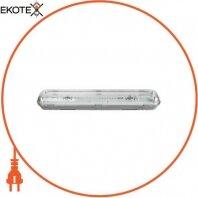 Светильник люминесцентный с призматическим плафоном e.lum.cpw.2.20.eco, 2x20W IP65 без ПРА
