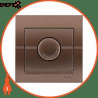 Диммер 500 Вт с фильтром и предохранителем 702-3131-117 Цвет Светло-коричневый металлик 10АХ 250V~