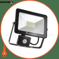 прожектор ev-30-01 30w 180-260v 6400k 2400lm с датчиком светодиодные светильники евросвет Евросвет 39332