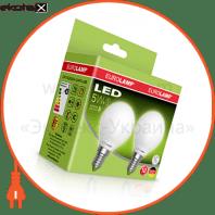 """Промо-набір EUROLAMP LED Лампа ЕКО серія """"Е"""" G45 5W E14 4000K акція 1+1 (25)"""