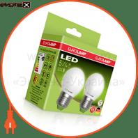 """Промо-набор EUROLAMP LED ЕКО G45 5W E27 3000K акция """"1+1"""""""