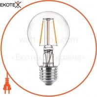 Лампа светодиодная Philips Filament LED Classic 6-60 Вт A60 E27 830 CL NDAPR