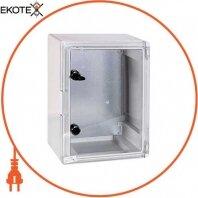 Корпус ударопрочный с АБС-пластика e.plbox.300.400.165.tr, 300х400х165мм, IP65 с прозрачной дверью