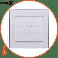 Кнопка звонка 703-0225-103 Цвет Белый/Хром 10АХ 250V~