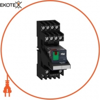 Miniature plug-in relay pre-assembled, 6 A, 4 CO, lockable test button, mixed terminal socket, 230 V AC