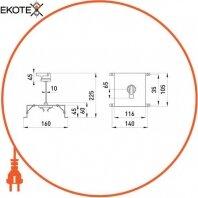 Enext i0060003 поворотная рукоятка e.industrial.ukm.250.cs