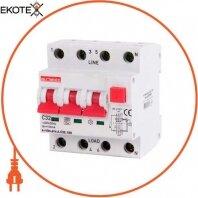Выключатель дифференциального тока с защитой от сверхтоков e.rcbo.pro.4.C32.100, 3P+N, 32А, С, тип А, 100мА