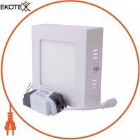 Светильник светодиодный накладной e.LED.MP.Square.S.6.4500. квадрат, 6Вт, 4500К, 420Лм