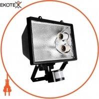 Прожектор с датчиком на движение e.save.light.2e27move.1000.black под энергосберегающую лампу, 2 патрона Е27, черный