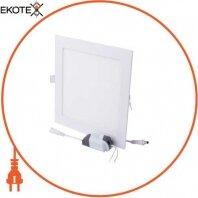 Світильник світлодіодний встраив e.LED.MP.Square.R.24.4500. квадрат, 24Вт, 4500К, 1680Лм