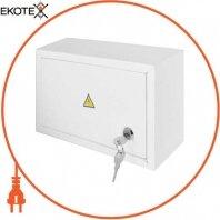 Корпус e.mbox.stand.n.12.z металевий, під 12 мод., навісний, з замком