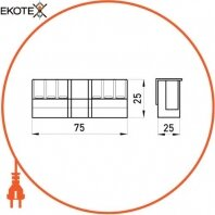 Enext i0050001 планка контактна e.industrial.ukm.jx