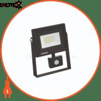 Прожектор с дат. движения SMD LED 10W 6400K 800Lm 220-240V IP65 черный
