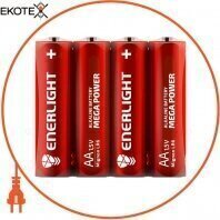 Батарейка ENERLIGHT MEGA POWER AA FOL 4