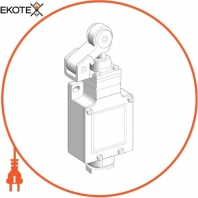 limit switch XCKL - th.plastic roller lever plunger - 1NC+1NO - snap - Cab.gland