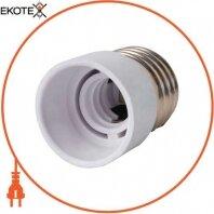 Переходник e.lamp adapter.Е27/Е14.white, с патрона Е27 на Е14, пластиковый
