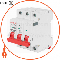 Модульний автоматичний вимикач e.mcb.stand.60.3.C63, 3р, 63А, C, 6кА