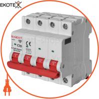 Модульний автоматичний вимикач e.mcb.stand.60.4.C10, 4р, 10А, C, 6кА