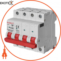 Модульний автоматичний вимикач e.mcb.stand.60.4.C32, 4р, 32А, C, 6кА