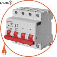 Модульний автоматичний вимикач e.mcb.stand.60.4.C6, 4р, 6А, C, 6кА