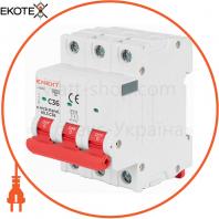 Модульний автоматичний вимикач e.mcb.stand.60.3.C28, 3р, 28А, C, 6кА